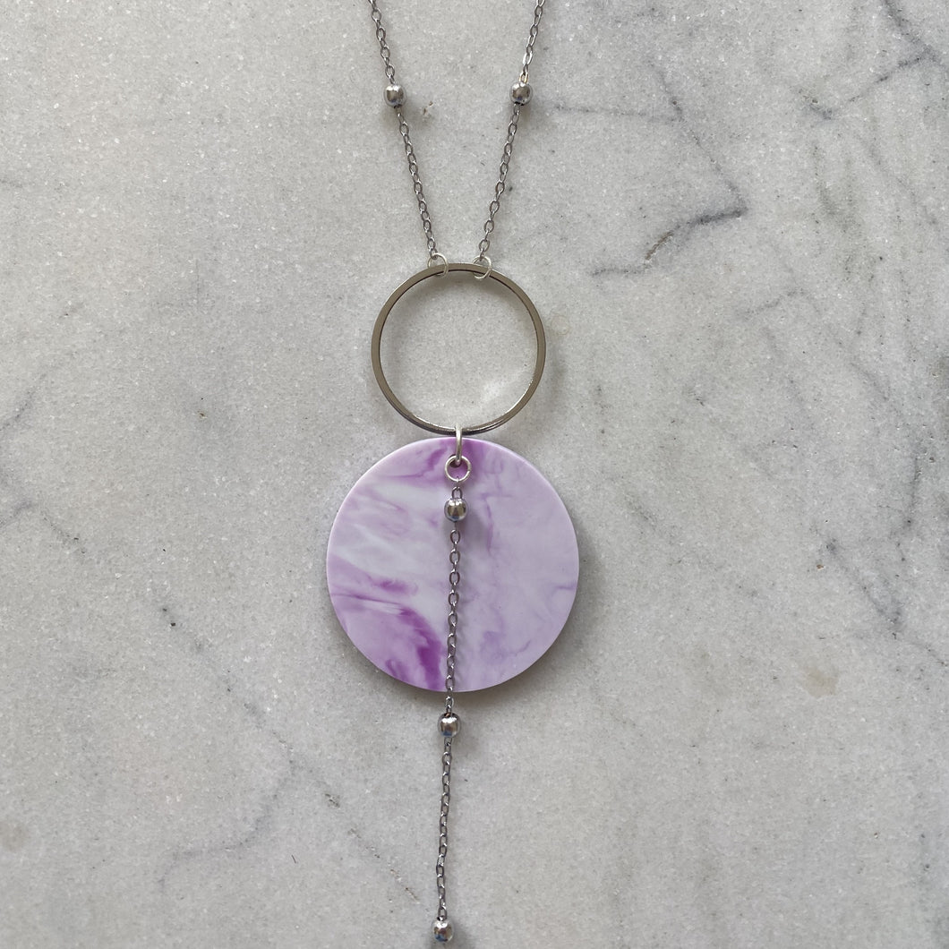 Celestial Necklace- Lilac Marble