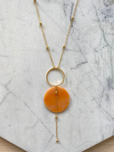 Celestial Necklace- Mango Lassi