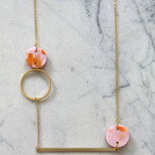 Load image into Gallery viewer, Heavenly Bodies Necklace- Pink with Orange Spot
