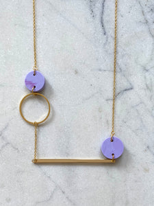 Heavenly Bodies Necklace- Periwinkle