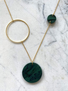 Constellation Necklace- Forest Green