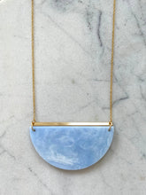 Load image into Gallery viewer, Eclipse Necklace- Soft Blue Marble