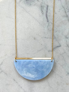 Eclipse Necklace- Soft Blue Marble