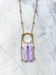 Magneto Necklace- Lilac Marble
