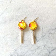 Load image into Gallery viewer, Mini Rise Earrings- Yellow Confetti