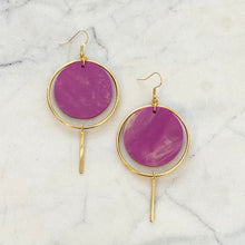 Load image into Gallery viewer, Halo Earrings- Radiant Orchid