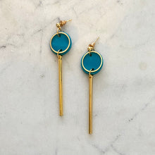 Load image into Gallery viewer, Rise Earrings- Teal & Gold