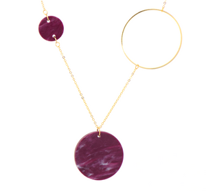 Constellation Necklace- Berry