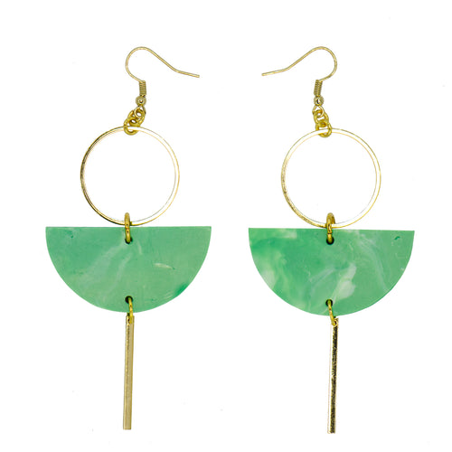 Eclipse Earrings- Jade Green