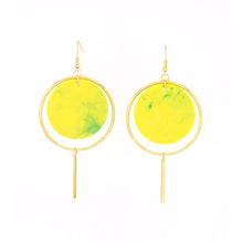 Load image into Gallery viewer, Halo Earrings- Lime