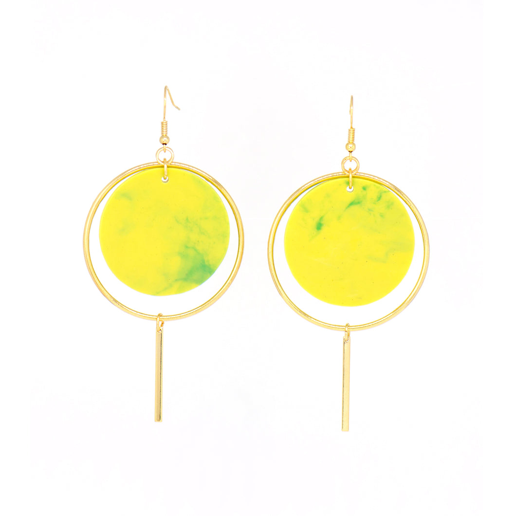 Halo Earrings- Lime