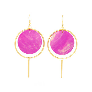 Halo Earrings- Radiant Orchid