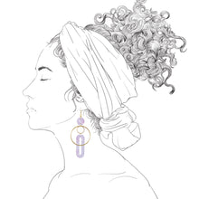 Load image into Gallery viewer, Solar Earrings- Periwinkle