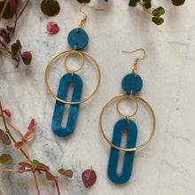 Load image into Gallery viewer, Solar Earrings- Cerulean