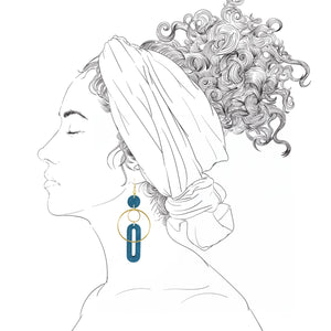 Solar Earrings- Cerulean