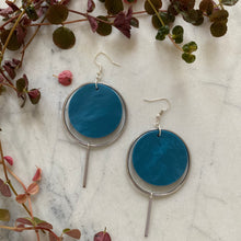 Load image into Gallery viewer, Halo Earrings- Cerulean