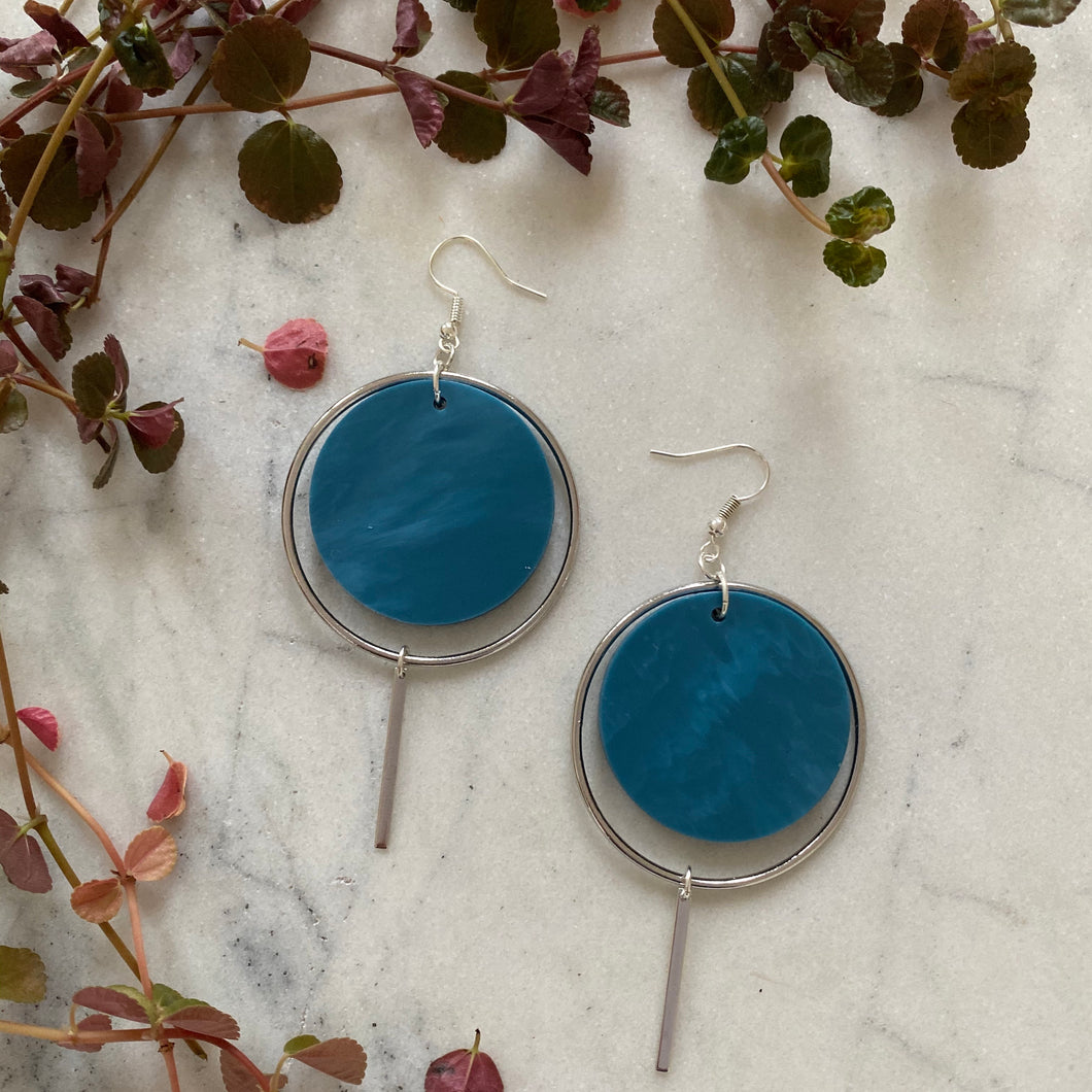 Halo Earrings- Cerulean