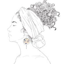 Load image into Gallery viewer, Halo Earrings- Frosted Delft