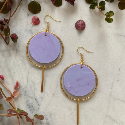 Halo Earrings- Periwinkle