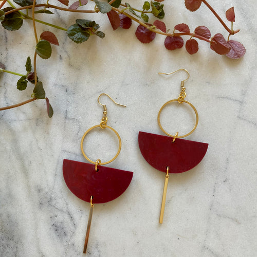 Eclipse Earrings- Merlot