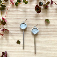 Load image into Gallery viewer, Rise Earrings- Pearlescent Grey