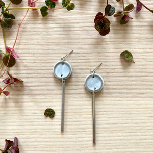 Rise Earrings- Pearlescent Grey