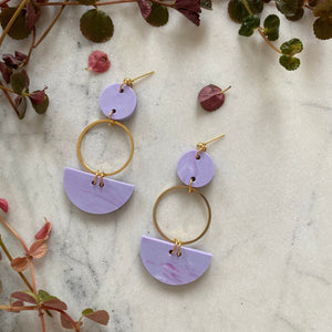 Mini Eclipse Earrings- Periwinkle