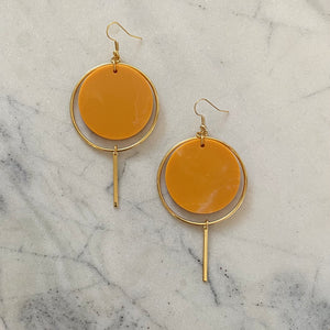 Halo Earrings- Turmeric