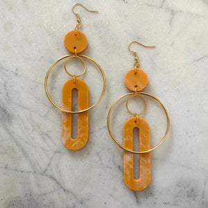 Solar Earrings- Turmeric