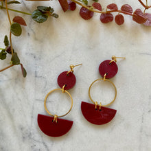 Load image into Gallery viewer, Mini Eclipse Earrings- Cherry