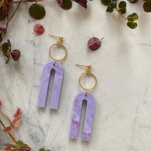 Magneto Earrings (S)- Periwinkle