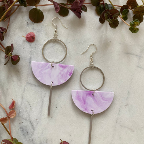 Eclipse Earrings- Lavender