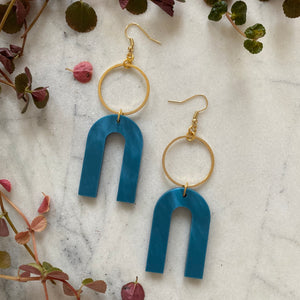 Magneto Earrings (L)- Cerulean