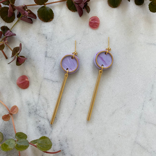 Rise Earrings- Periwinkle