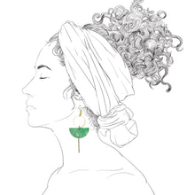 Load image into Gallery viewer, Eclipse Earrings- Jade Green