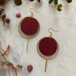 Halo Earrings- Merlot