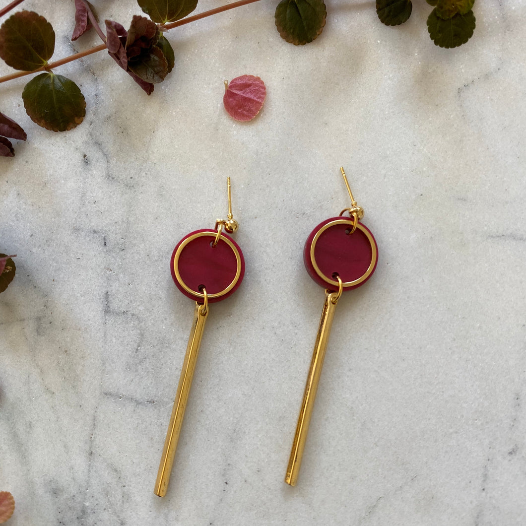Rise Earrings- Cherry