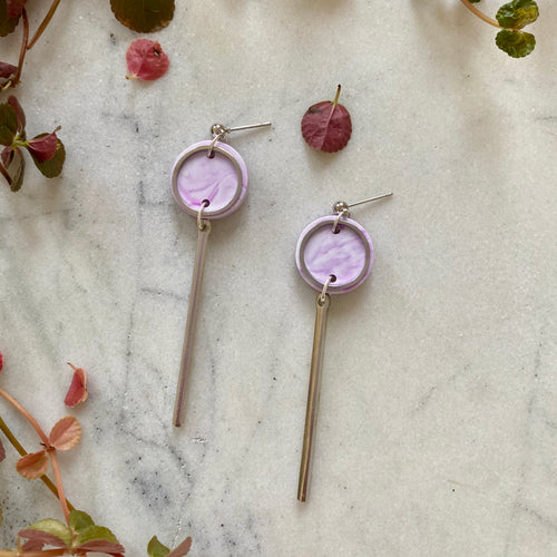 Rise Earrings- Lavender