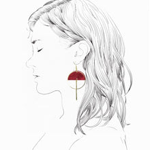 Load image into Gallery viewer, Lunar Earrings- Cherry