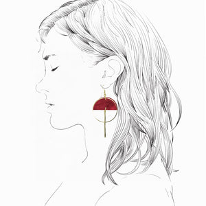 Lunar Earrings- Cherry