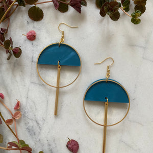 Lunar Earrings- Cerulean