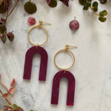 Load image into Gallery viewer, Magneto Earrings (L)- Berry