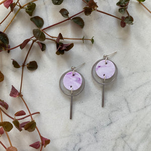 Mini Halo Earrings- Lavender