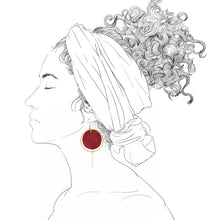 Load image into Gallery viewer, Halo Earrings- Cherry