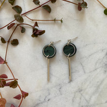 Load image into Gallery viewer, Mini Rise Earrings- Moss Green