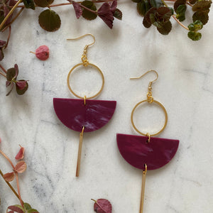 Eclipse Earrings- Berry
