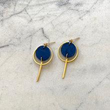 Load image into Gallery viewer, Mini Halo Earrings- Ocean Blue