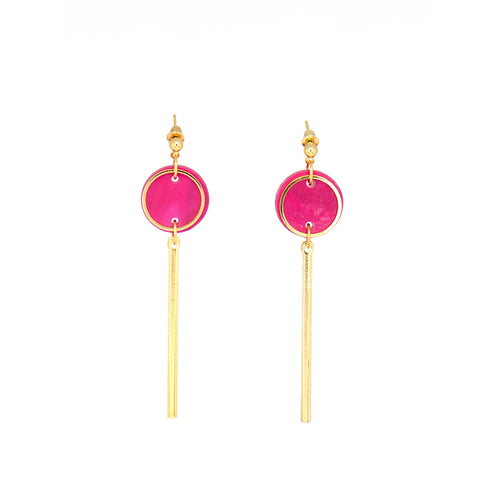 Rise Earrings- Magenta