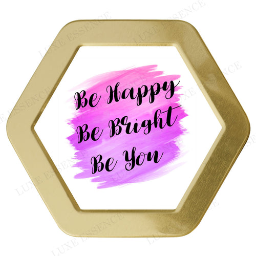 Gold Hexagon Candle With Be Yourself - Top View || Gold