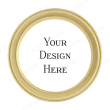 Gold Round Tin With Your Design - Top View